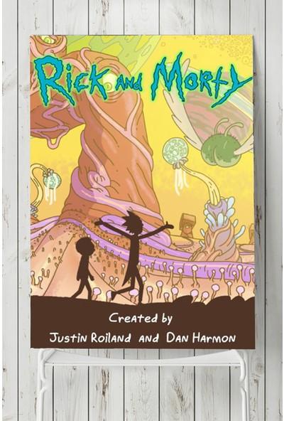 Postermanya Rick and Morty - Rick ve Morty Dizi Afişi 80 x 115 cm