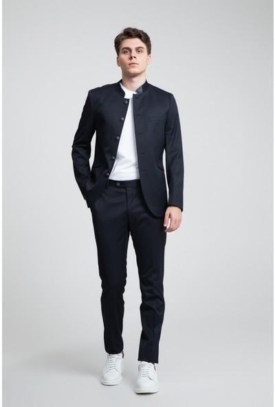 Twn Slim Fit Lacivert Düz Takım Elbise