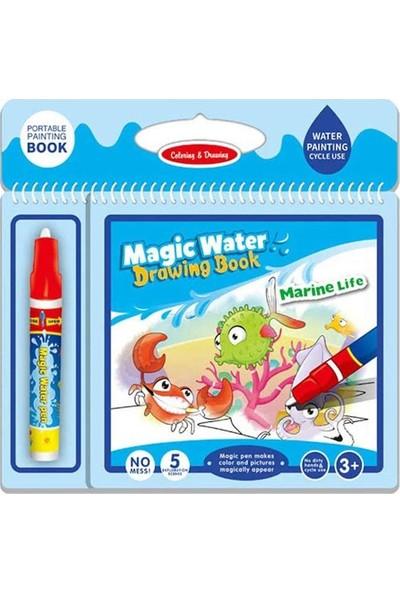 Mofy Baby Magic Water Sihirli Boyama Kitabı Deniz Dünyası