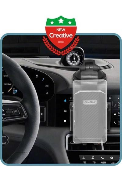 Go-Des GD-HD696 Serisi Vantuzlu Araç İçi Telefon Tutucu Siyah