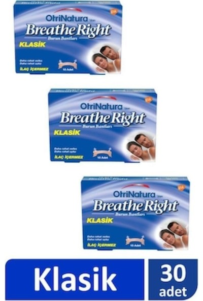 Breath Right Burun Bandı Normal Boy 10'lu - 3 Adet