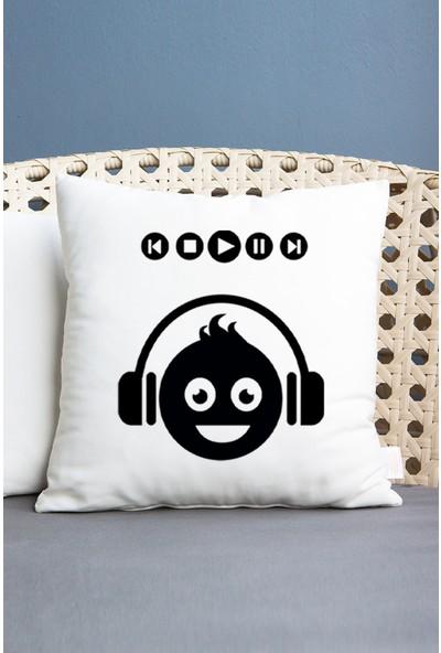 Hediyedukkani Emoji Tasarım Yastık