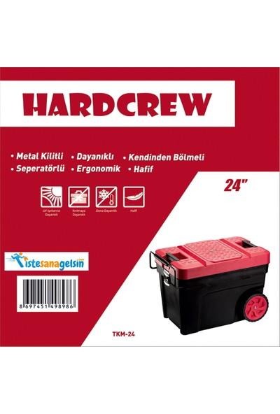 Hardcrew 24 Inç Mobil Taşınabilir Alet Çantası Metal Kilit Tkm-24