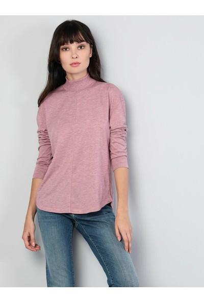 Colin's Pembe Kadın T-Shirt Uzun Kol