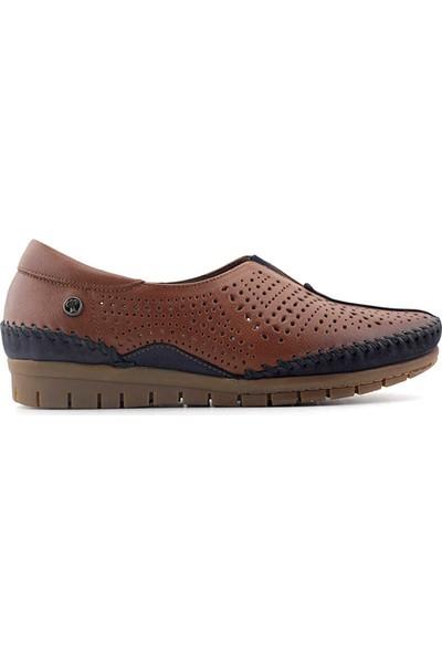 Forelli 23409 Anatomik Deri Kadın Ayakkabı-Taba