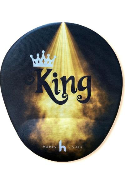 Happy Hours King Bilek Destekli Mouse Pad
