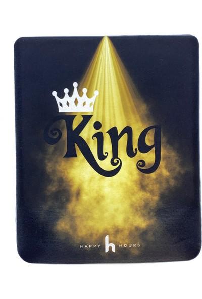 Happy Hours King Bilek Destekli Mouse Pad Kare - Happy Hours