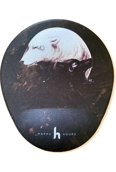 Happy Hours Wolfin Bilek Destekli Mouse Pad - Happy Hours