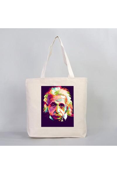 Einstein Kanvas Çanta (Büyük Boy)
