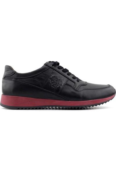 Rego 1359 Deri Erkek Ayakkabı-Siyah Bordo