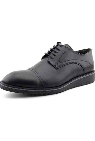 Rego 2237 Deri Erkek Ayakkabı-Siyah
