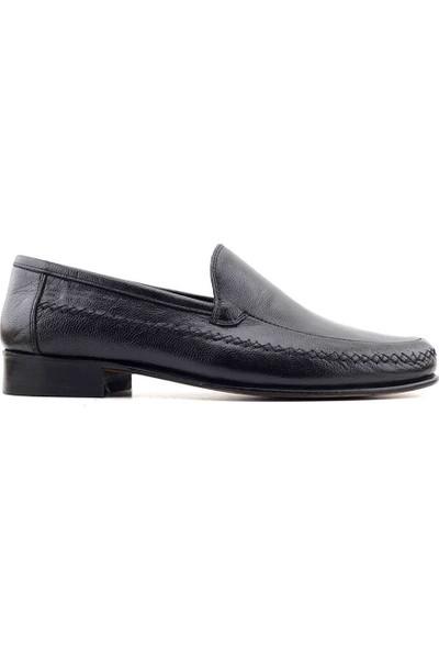 Suphi Şeker 070 Deri Erkek Günlük Ayakkabı-Siyah