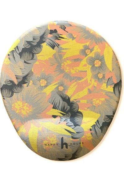 Happy Hours Flowers Bilek Destekli Mousepad