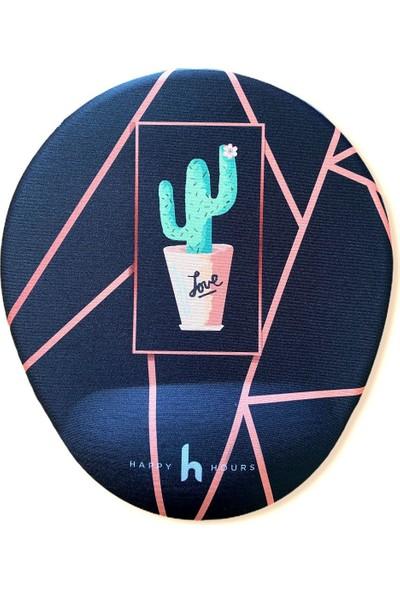 Happy Hours Kaktüs Love Bilek Destekli Mouse Pad