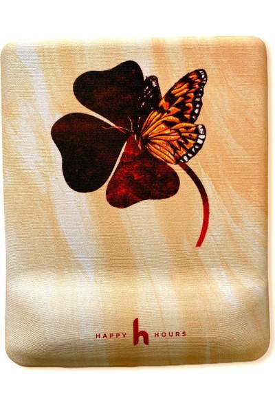 Happy Hours Flowerfly Bilek Destekli Mouse Pad