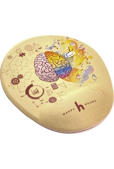 Happy Hours Brain Sides Bilek Destekli Mousepad