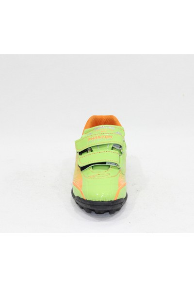 Phantom Yeşil Turuncu Cırtlı Çocuk Halı Saha Ayakkabı