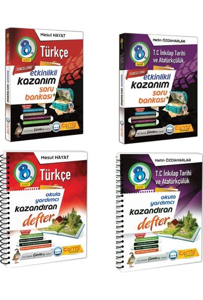 Çanta Yayınları 8. Sınıf Kazanım Türkçe ve Inkılap Tarihi Soru Bankası ve Defter Seti