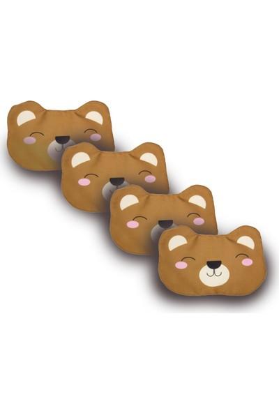 Purple Shopping 4 Adet Uyku Maskesi - Bear