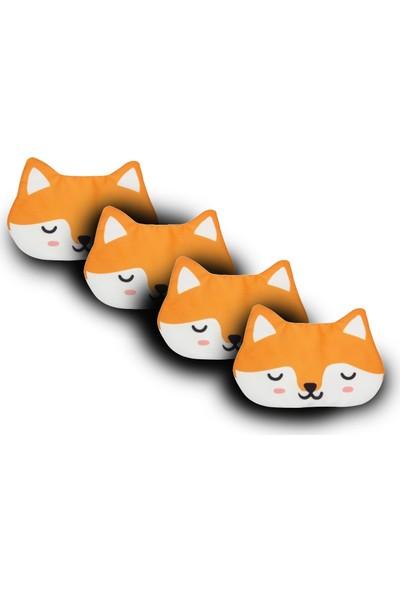 Purple Shopping 4 Adet Uyku Maskesi - Fox