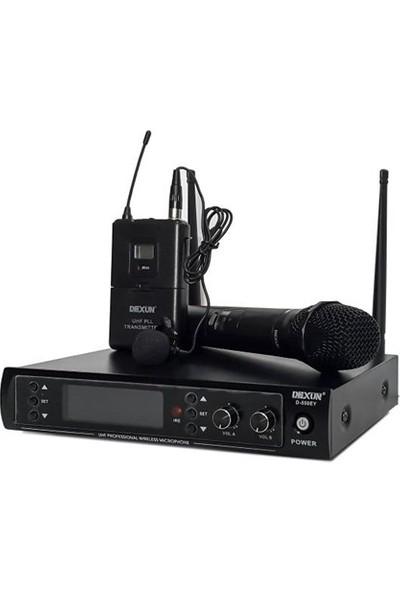 Dexun D-550Ey Uhf Band İki Kanal Kablosuz El + Yaka Mikrofon