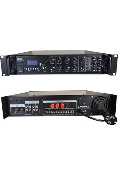 Dexun D-450 6 Bölge 450W 100V 4-16 Ohm Amfi Mikser
