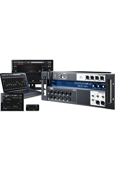 Soundcraft Ui16 16-Kanal Tablet/Pc/Smartphone Kontrollu Dijital Mikser