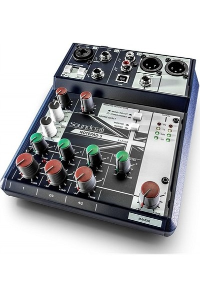 Soundcraft Notepad 5 Channel Desktop Mixer With Usb