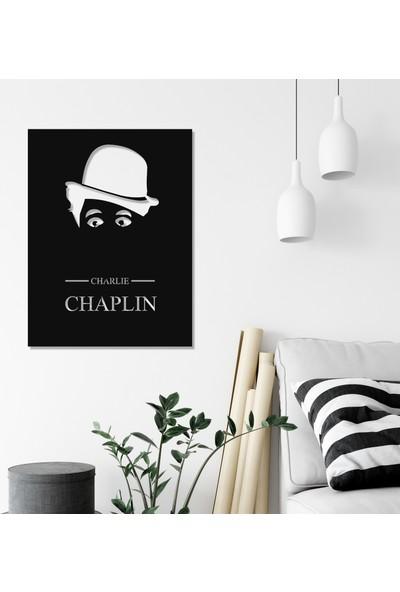 Balt Metal & Wood Charlie Chaplin Metal Duvar Tablosu