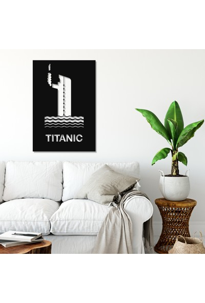 Balt Metal & Wood Titanic Dekoratif Metal Duvar Tablosu