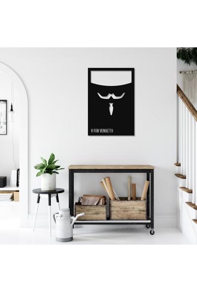 Balt Metal & Wood V For Vendetta Yatak Odası Duvar Tablosu