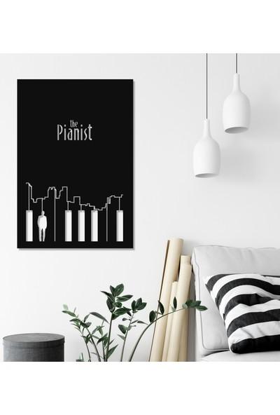 Balt Metal & Wood The Pianist Dekoratif Yatak Odası Duvar Tablosu