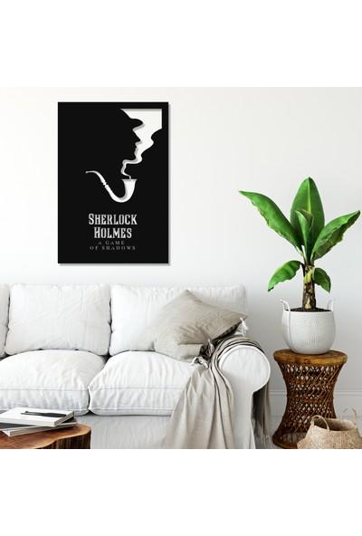 Balt Metal & Wood Sherlock Holmes Dekoratif Duvar Tablosu