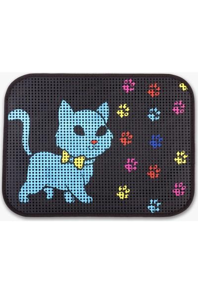 Zeepmax Desenli Kedi Tuvalet Önü Paspası