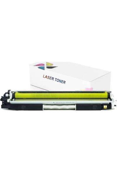 inkwell 130A - CF352A - ColorLaserjet CZ165A Sarı Muadil Toner 1300 Sayfa Sarı