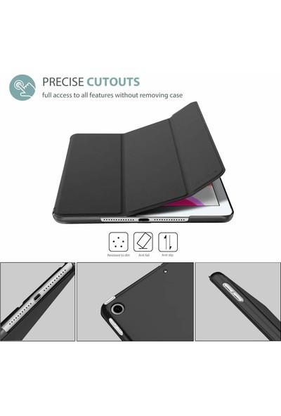 Fujimax Apple ipad 8. Nesil 10.2 inç A2428 A2429 A2430 A2270 Seri Uyku Modlu Sert P.C Yatay Standlı Smart Kılıf