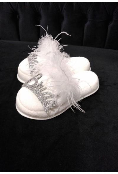 Asimod Bride Havlu Tüylü Terlik