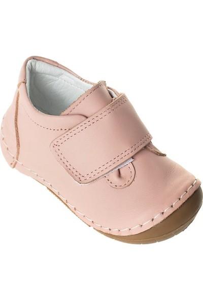 Wstark Kışlık Deri Pudra Kız Bebek İlk Adım Ayakkabısı