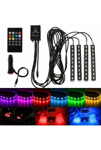 Dekohop Araç Içi Ayak Altı Müziğe Duyarlı Kumandalı LED