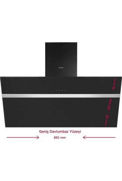Simfer Yeni 90 cm Siyah Ankastre Set (7392 Fırın + 3915 Ocak + 8911 Davlumbaz)