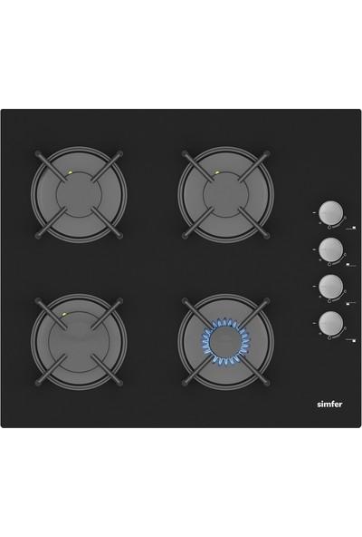 Simfer Turbo Siyah Ankastre Set (7327 Fırın + 3500 Ocak + 8678 Davlumbaz)