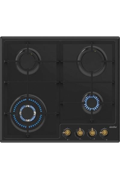 Simfer Ardıç Rustik Siyah Ankastre Set (7319 Fırın + 3323 Ocak + 8667 Davlumbaz)