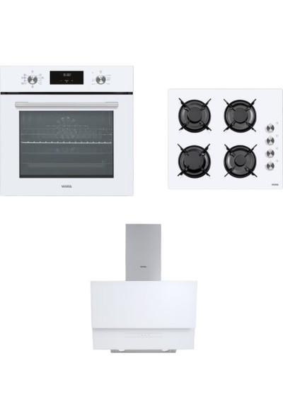 Vestel Eğik Beyaz Set 1 ( Af 7684 Yb -Ao 6104 Yb -Ad 6331 B)