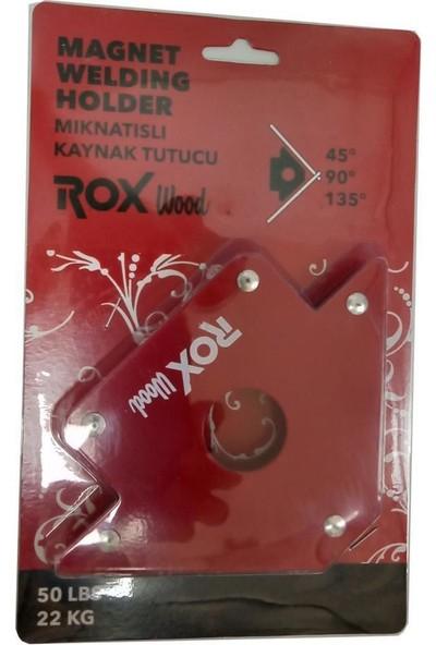 Rox Wood 0072 Manyetik Açılı Kaynak Tutucu Mıknatıs Gönye 50 Lbs