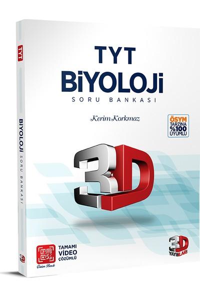 3D Yayınları TYT Biyoloji Soru Bankası Tamamı Video Çözümlü - Kerim Korkmaz