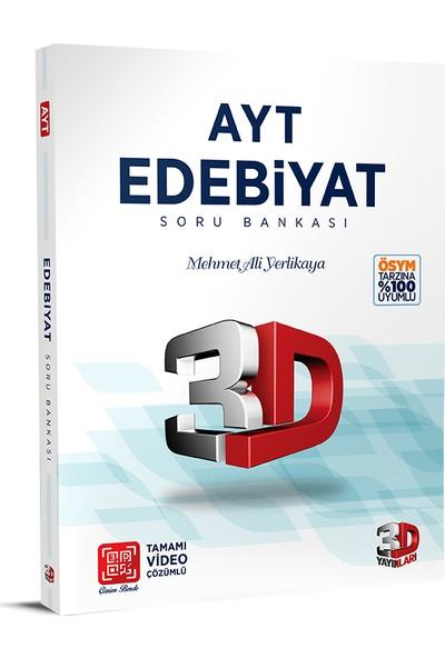 3D Yayınları AYT Edebiyat Soru Bankası Video Çözümlü - Mehmet Ali Yerlikaya