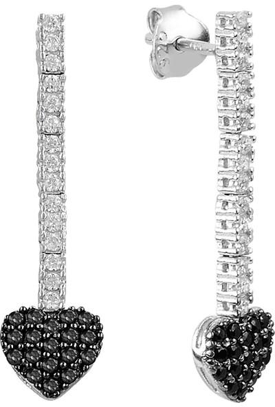 Barış Takı 925 Ayar Gümüş Kalp Salkım Pırlanta Montür Su Yolu Düğün Seti