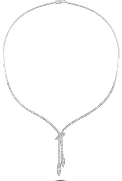 Barış Takı 925 Ayar Gümüş Kurşun Pırlanta Montür Su Yolu Kadın Düğün Seti