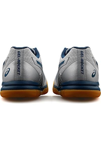 Asics Erkek Voleybol Ayakkabısı Gri Mavi Gel Rocket 9 1071A030 020