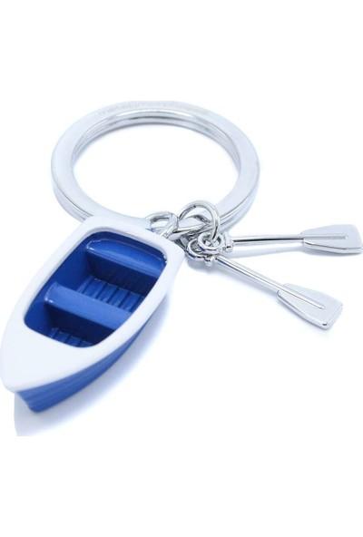 Metalmorphose Rowboat Sandal Sandal Anahtarlık Mavi Beyaz